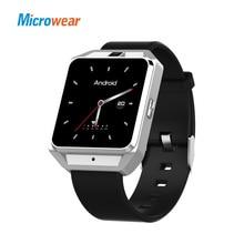 Купить с кэшбэком Microwear H5 Smart Watch men Pedometer Android 6.0 Smartwatch MTK6737 GPS 4G WIFI Heart Rate smart watch earphone Camera