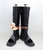 Naruto Neenya Anbu Kakashi Ninja Black Leather Cosplay Shoes Boots X002