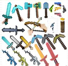 20-60CM Newest Minecraft Toys Colorful Minecraft Sword Foam Action Figures Toys Children's Toys New Year's Gifts