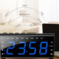Smart LED creative alarm clock radio USB mobile phone charging AM/FM dual frequency radio summer time display function