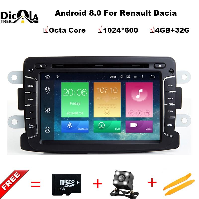 Android 8 0 Octa Core 4GB 32GB GPS Navigator font b Radio b font For Dacia