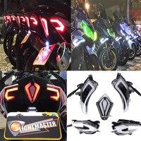 KEMiMOTO Аксессуары для мотоциклов TMAX530 задний хвост фонаря светодиодный поворотник для YAMAHA Tmax 530 T Max530 2013 2014 2015 2016