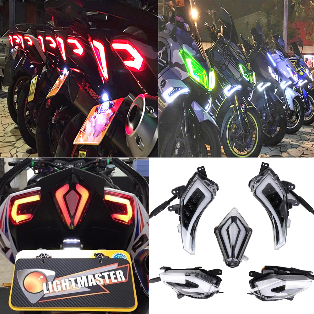 KEMiMOTO Motorcycle Accessories TMAX530 Rear Tail Brake Light LED Turn Signal For YAMAHA Tmax 530 T Max T Max530 2012 2013 2016