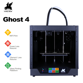 O envio gratuito de 2019 Popular Flyingbear-Ghost4 Impressora 3d full metal frame kit diy impressora 3d com Ecrã Táctil a Cores