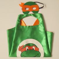 20 Takım/grup Teenage Mutant Ninja Turtles Çocuk Superhero Cape Maske Cadılar Bayramı Kostüm Cosplay Doğum Günü Partisi Çocuk Hediye Pelerin