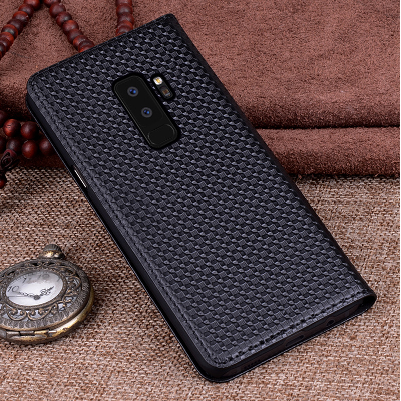 For S9 S9 Plus + Genuine Leather back case cover For for Samsung Galaxy S9 / S9 Plus coque capas flip case shell coverFor S9 S9 Plus + Genuine Leather back case cover For for Samsung Galaxy S9 / S9 Plus coque capas flip case shell cover