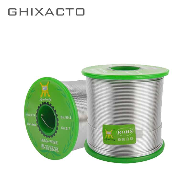 GHIXACTO 500g Lead-Free Solder Wire 0.8/1.0mm Unleaded Lead Free Rosin Core for Electrical Tin Containing 99.3%