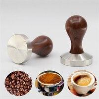 Coffee Tamper Red sandalwood Handle Espresso Powder Hammer 51 /58mm 304 Stainless Steel Base Coffee Barista Tools Coffeeware|Coffee Tampers|   -