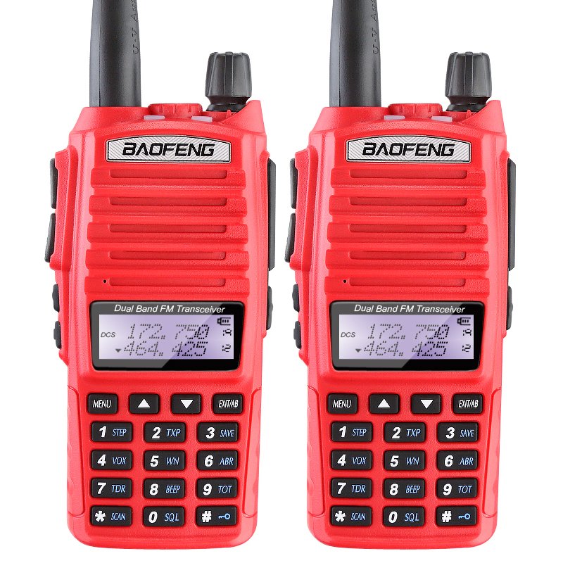 2 PCS/LOT BaoFeng UV-82 5 W Portable talkie-walkie Amateur Radio Pofung Handie Talkie uv-82 jambon Radio gratuit Double PTT casque