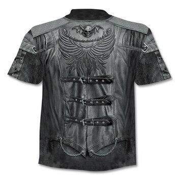 Casual men's 3D printing T-shirt  1