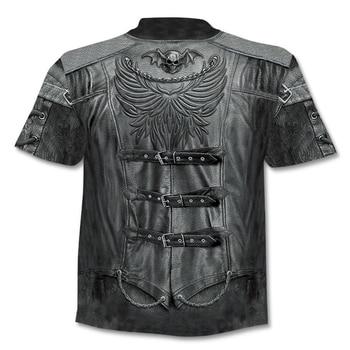 Skull Series Casual Men's 3D Printing O-neck T-Shirt