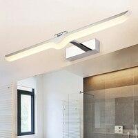 Modern Waterproof Led Wall Lamp Chrome Sconce for Indoor Bathroom Living Room Mirror Lights Fixtures 100 240V