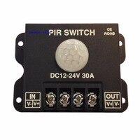 Led pirコントローラdc 12ボルト/24ボルト30aボディ赤外線pirモーションセンサースイッチ用ledライトストリップ自動