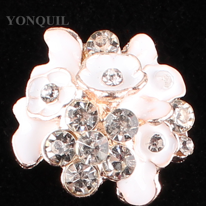 20*23 MM Flower Daisy Rhinestones Flatback BUTTONS for Handicrafts Rhinestone for hats Garment DIY Decoration 15pcs/lot SYBB91
