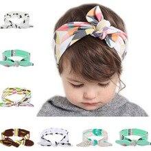 Kids Girls Bohemian Headband Bunny Ear Princess Bow Elastic Knot Headbands  Bowknot Headwear Hair Accessories bandeau deb6c89b14a2
