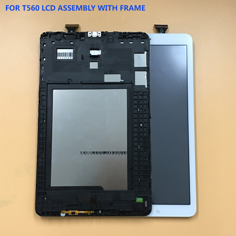 все цены на For Samsung Galaxy Tab E 9.6 T560 SM-T560 SM-T561 Touch Screen Sensor Digitizer Panel Glass + LCD Display Monitor With Frame онлайн