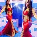 Egipto Vestido Elegante Baile Vestidos Largos Vestidos de Noche Formal Largo Rojo Vestidos de Noche Abendkleider Dubai Sirena Vestido de Noche de Las Mujeres