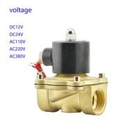 1'' Water Solenoid Valve Air Oil Brass Valve NBR 2W250 25 DC12V DC24V AC110V or AC220V