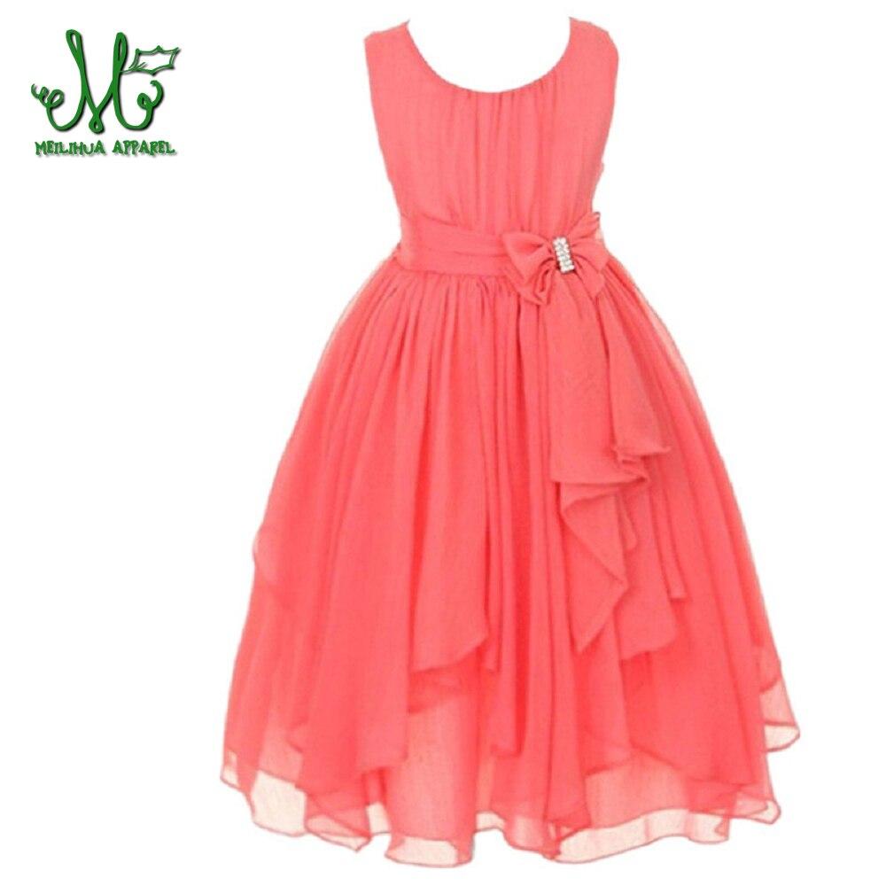 Gaun anak-anak untuk anak perempuan O-neck Tanpa Lengan Musim Semi - Pakaian anak anak