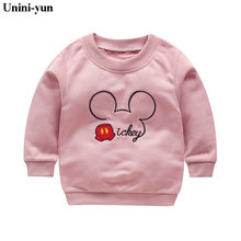 Bebes Pullover Tee Fall 2017 Autumn Winter Kids Mickey Sweatshirt Tops Long Sleeve T-shirt Boys Girls Child Baby baby girls top(China)