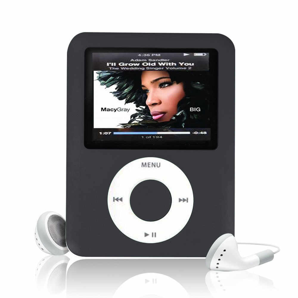 1 pc Color negro de Jack de Audio de 3,5mm Slim MP3 8 GB LCD 1,8 Media Video juego película Radio FM mp3 jugador # SS