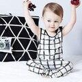 2 pçs/set 2017 mantas verificado Infantil Bonito Da Criança Do Bebê Meninas Meninos Roupas de verão vest tops t-shirt + calças roupas de bebê conjuntos