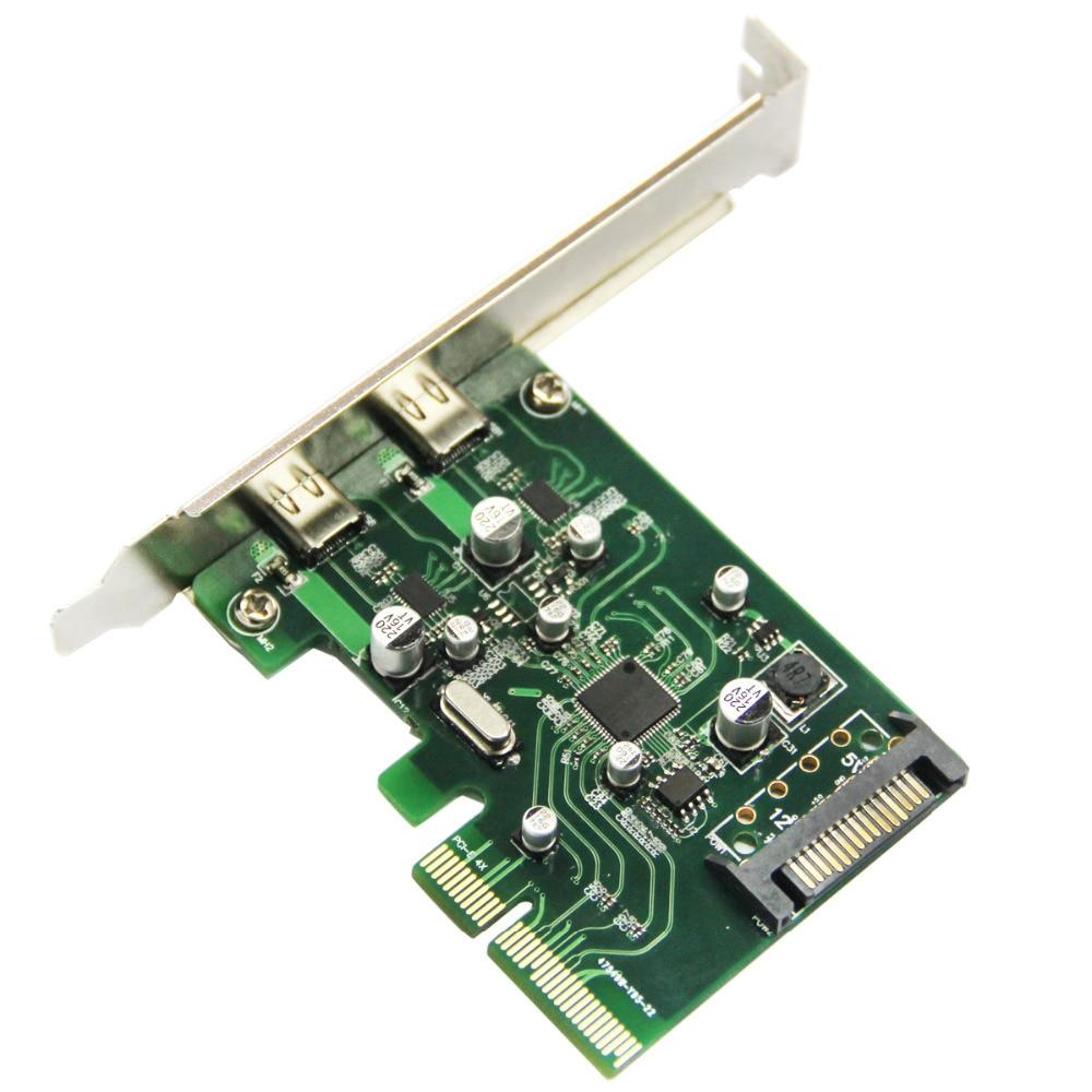 2 պորտ USB 3.1 Type-C PCI Express Card + PCIe ցածր - Համակարգչային բաղադրիչներ - Լուսանկար 4