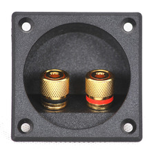2pcs High Quality Speaker Junction Box Connector Two Speaker Audio Adapter DIY Accessories Openings 49mm ABS Material