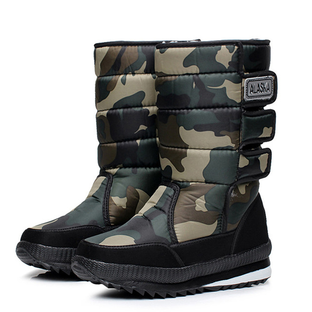 2016 зима теплая мужская утолщение платформы непромокаемую обувь военная пустыня мужчины колен-высокие ботинки снега открытый охота botas 47