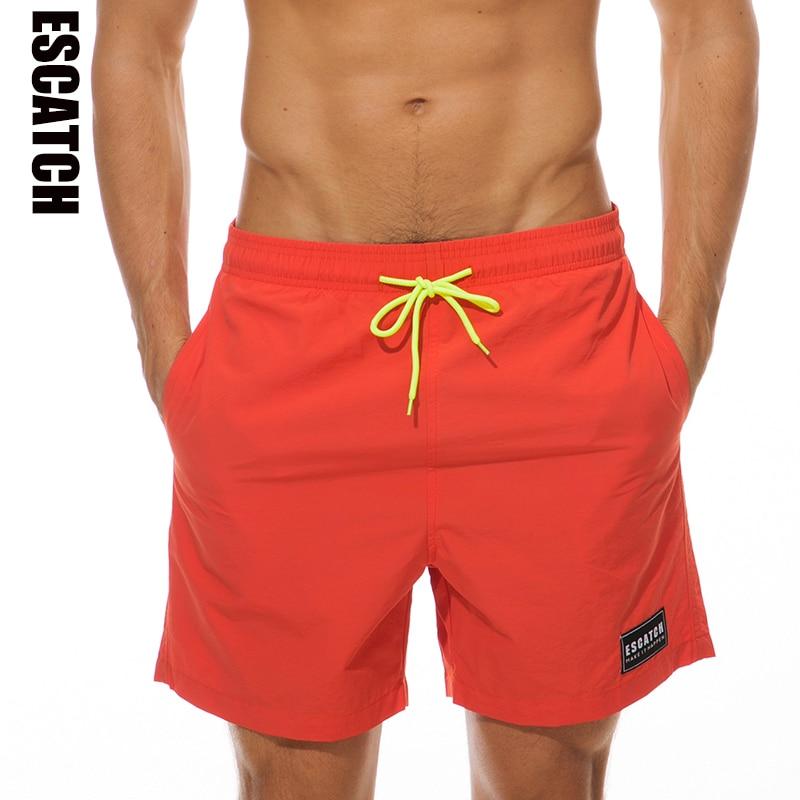 Escatch Mens Swimwear Swim   Shorts   Trunks Beach   Board     Shorts   Swimming   Short   Pants Swimsuits Mens Running Sports Surffing   shorts