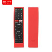Pokrowce na pilota Sony RMF-TX300U RMT-TX200U RMT-TX102U RMF-TX200U SIKAI odporne na wstrząsy silikonowe etui zmywalne czerwone tanie tanio MOSHOU Wifi Bluetooth Remote Control Covers for Sony RMT-TX200U RMT-TX102U RMF-TX200U Fit for Sony Android TV Voice Remote and Sony TV Netflix remote