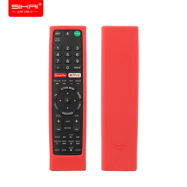 Remote Control Covers for Sony RMF TX300U RMT TX200U RMT TX102U RMF TX200U SIKAI Shockproof Silicone Cases Washable Red