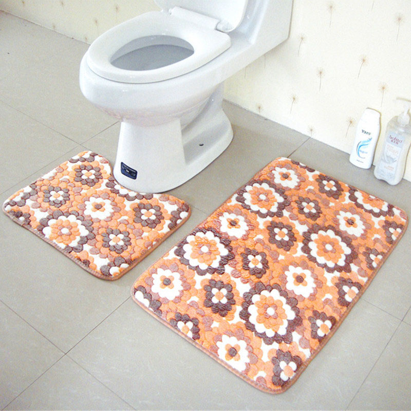 QI JIE 2 STKS Badkamer Matten Set U Vorm Mat Kleed Kit Wc Patroon ...