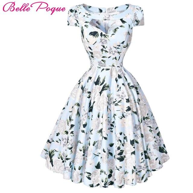 d63d6c4a277 Rétro femmes robes été Sexy 50 s Pinup Rockabilly Vintage Robe Audrey  Hepburn Vestidos Robe décontracté