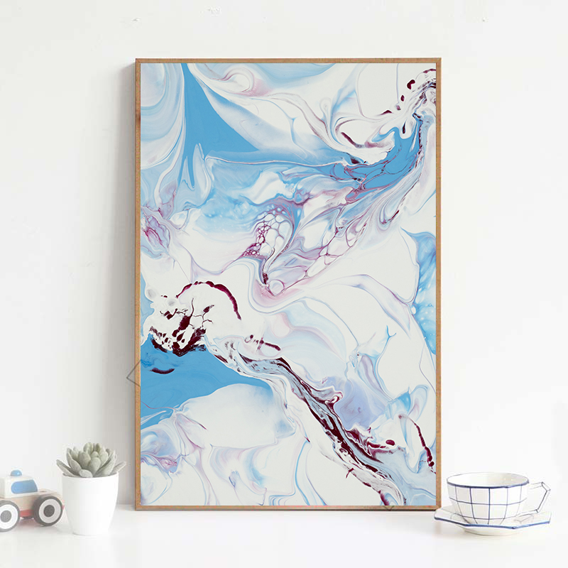 Kunst A1 A2 A3 A4 A5 Watercolour girl Painting Art Print Poster