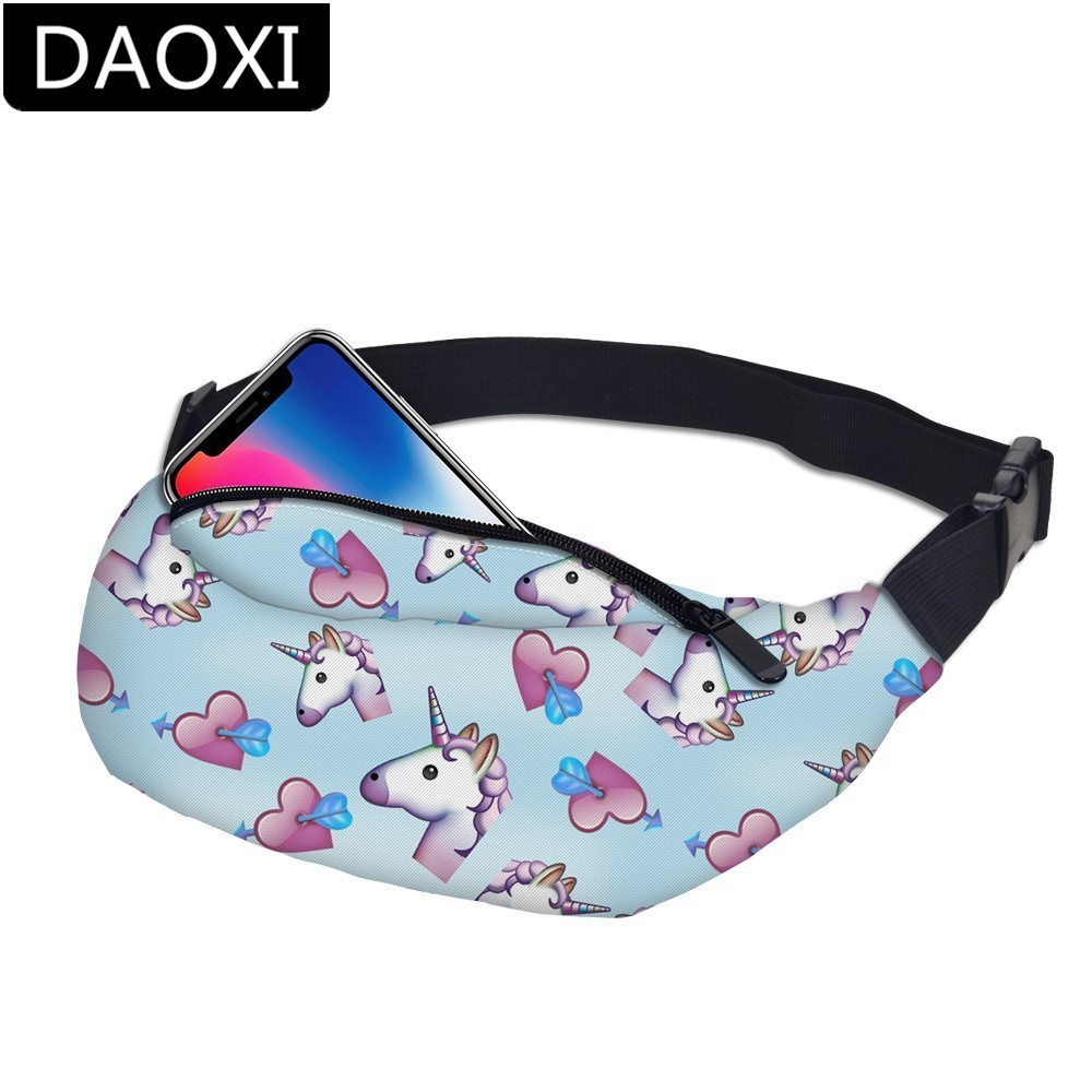 DAOXI Unicorn Waist Pack Bag Fanny Pack For Men&Women Hip Bum Bag With Adjustable Strap For Outdoors Workout Traveling DXYB-16