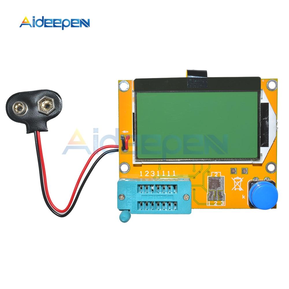 Mega328 M328 LCR-T4 Multimeter 12864 LCD Digital Transistor Tester Meter Backlight Diode Triode Capacitance ESR Meter