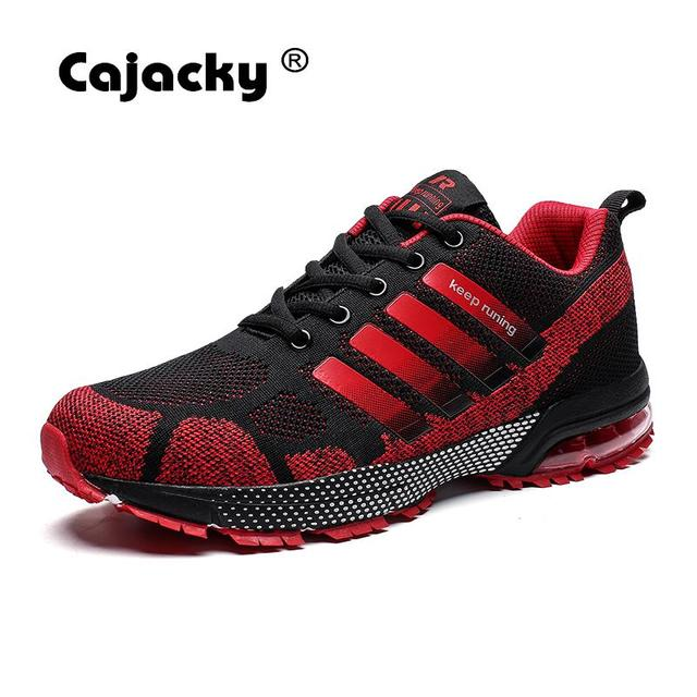 Cajacky Men Sneakers Running Plus Size 36-47 Unisex Air Mesh Jogging Shoes Outdoor Trainers Shoes Lightweight Zapatillas Hombre 1