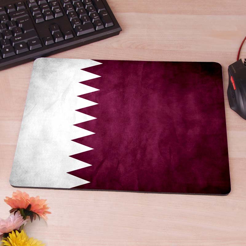 MaiYaCa Qatar Grunge Flag Cool Game Custom MouseMats Rubber Pad