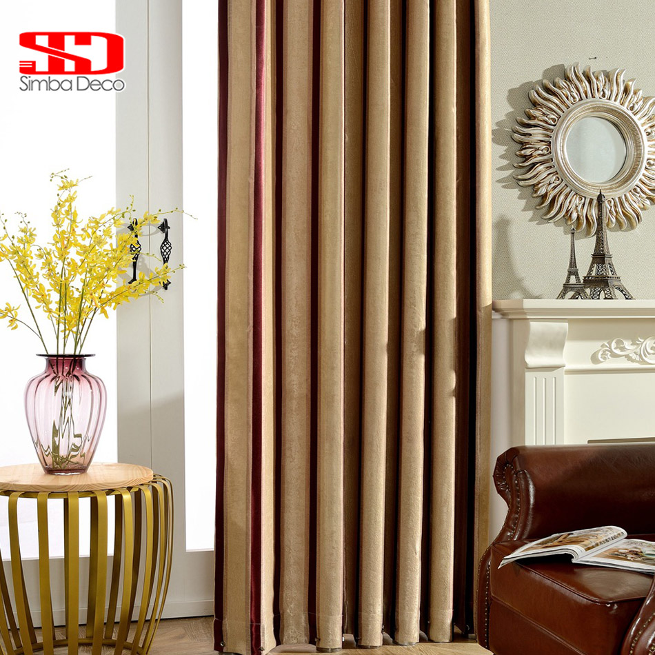 Striped Modern Curtain Blackout Curtains For Bedroom Black White Blinds Drapes Living Room Door Window