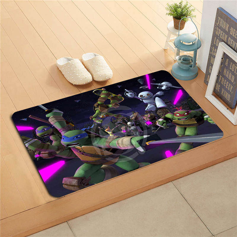 W530L11 Custom leonardo teenage mutant ninja Watercolor Painting Doormat Home Decor Door ...