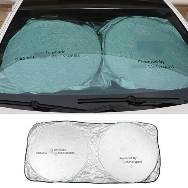 Car Accessories Front Sunshade Sticker For Audi Sline BMW E39 E53 E53 E90 For Mercedes Benz A180 B200 AMG CLA GLA VW Passat Golf