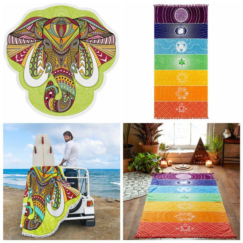 Lantai tikar, Karpet keset, Wall Hanging Mandala selimut lantai gajah permadani, Karpet perjalanan, Tekstil rumah permadani ...