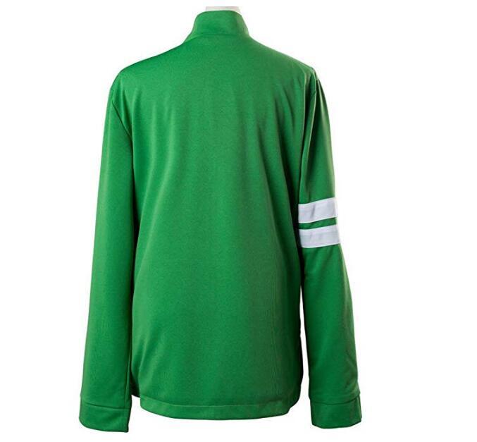 Ben 10 Alien Force Benjamin Tennyson Kids Green Jacket T-Shirt Cosplay Costume
