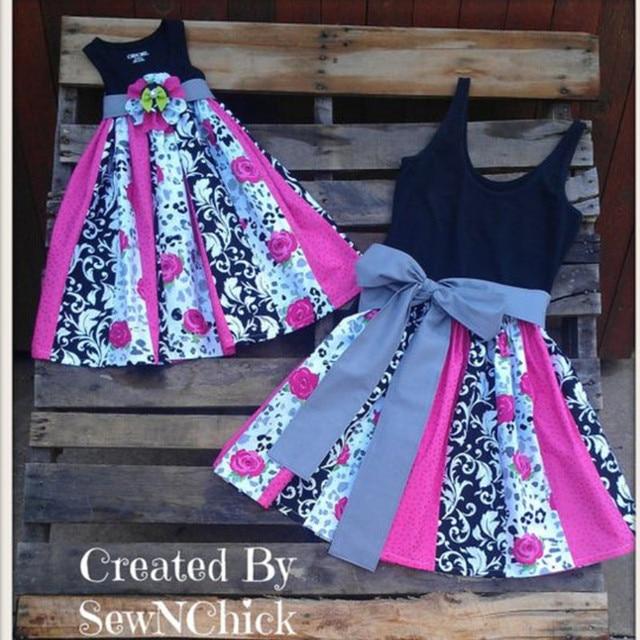 3f978537be5807 Comparer Mère fille robes maman et bébé filles vêtements assortis ...