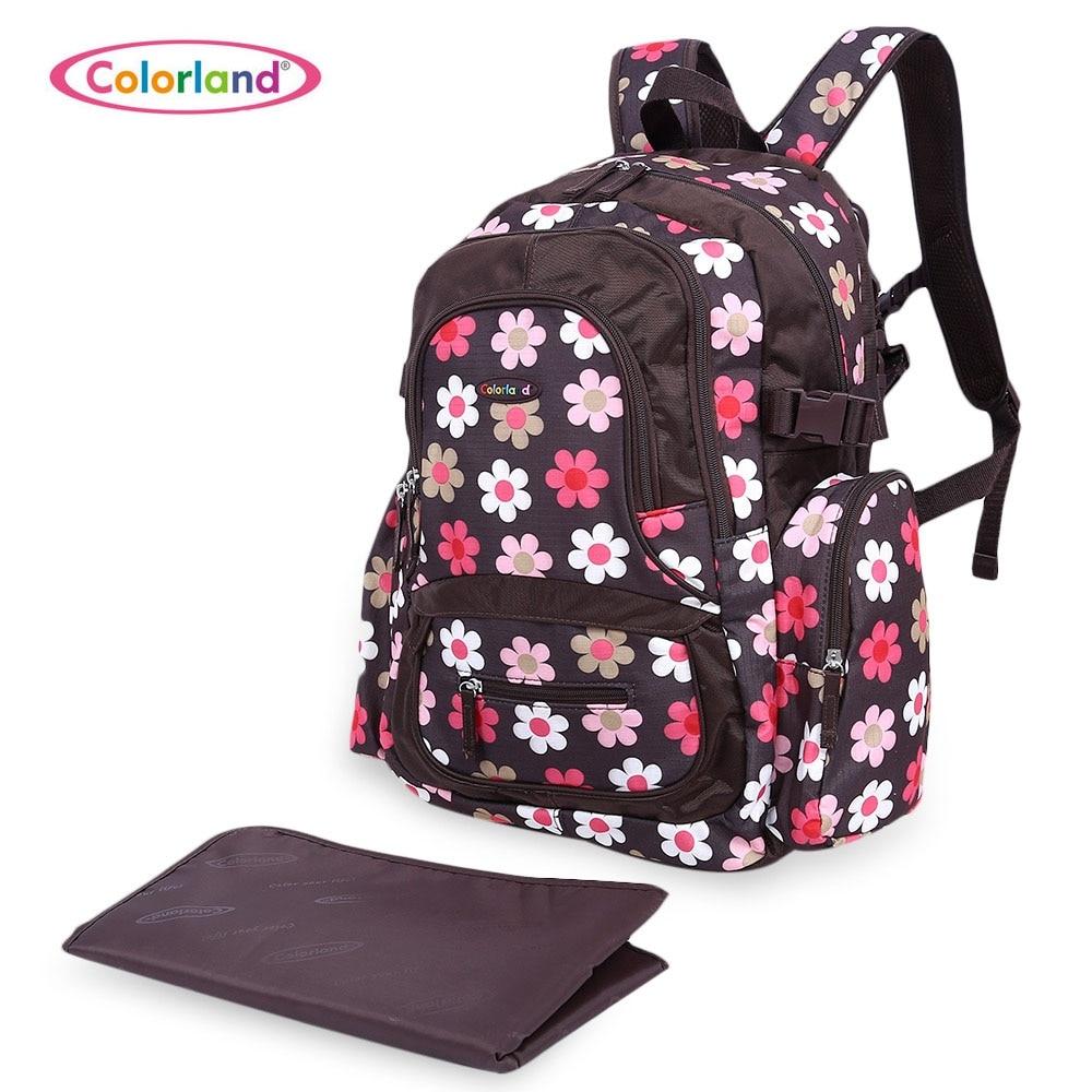 ФОТО Colorland Fashion Waterproof Large Capacity Maternity Baby Diaper Nappy Bag Backpack Mummy Bag Mummy Backpacks Bolsa Maternidade