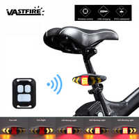 Smart Fernbedienung Bike Lampe Drahtlose Hinten Licht Fahrrad Sitz Montieren LED Warnung Rücklicht Drehen Control Signal Schwanz Lampe