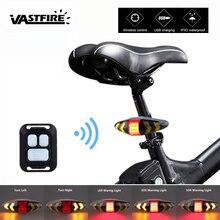 الذكية التحكم عن بعد الدراجة مصباح لاسلكي خلفي ضوء مقعد دراجة جبل LED تحذير الضوء الخلفي تحول التحكم إشارة الذيل مصباح