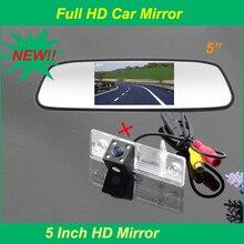 5 » monitor del espejo + HD del CCD de visión trasera aparcamiento cámara para Chevrolet Epica Lova Aveo Captiva Cruze coche cámara
