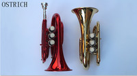 2017 New Popular OSTRICH Portable B flat palm, palm, Pocket Trumpet trumpet cornet genuine music